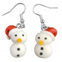 Cute Style Snowman Shaped Earrings