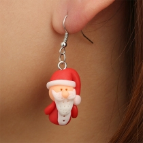 Cute Style Santa Claus Shaped Earrings