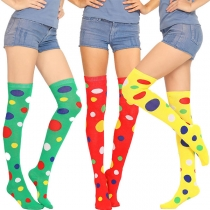Fashion Colorful Dots Printed Over-the-knee Socks
