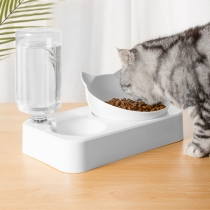 Creative Style Double Bowl Automatic Water Dispenser Feeder for Pets