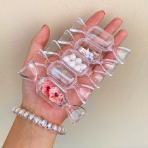 Creative Style Candy Shaped Accessories Transparent Storage Box-5/set