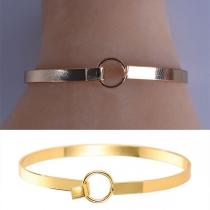 Simple Style Silver-tone Alloy Bracelet