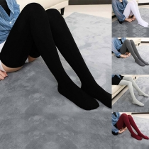 Fashion Solid Color Over-the-knee Stockings