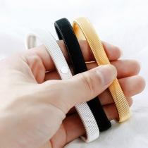 Simple Style Elastic Spring Bracelet for Man