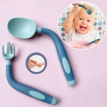 Feeding Training Spoon and Fork Tableware Set for Babies Toddlers 2 Piece/Set