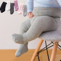 Simple Style Solid Color Baby Toddler Pantyhose