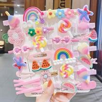 Cute Cartoon Hairpins 14pcs/Set for Girls Children