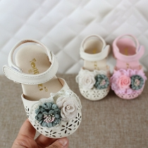 Cute Style 3D Flower Hollow Out Closed-toe Baby Toddler Sandals