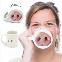Funny  Nose Piggy Mug Piggy Nose Pig Nose  Coffee Tea Cup Funny Gift