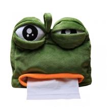 Funny sad frog tissue box gift car pumping tissue box