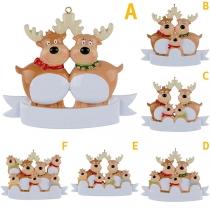 Cute Style Cartoon Elk Shape Christmas Tree Pendant Decoration