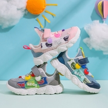 Fashion Contrast Color Mesh Breathable Soft Sole Baby Toddler Shoes Sneakers