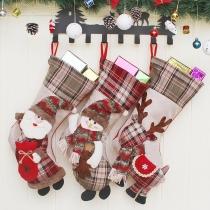 Cute Style Christmas Image Pendant Christmas Socking Decorations 3 Piece/Set