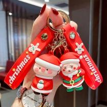 Cute Cartoon Santa Claus Pendant Key Chain