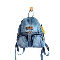 Leisure Punk European Style Blue Denim Backpack