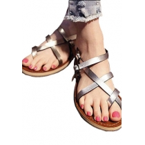 Leisure Roman Style Strap Cross Thong Sandals
