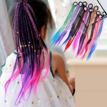 Creative Style Color Gradient DIY Braid Headwear for Children  3 Piece/Set