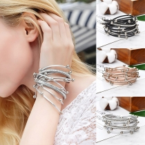 Fashion Beaded Multi-layerPU Leather Bracelet