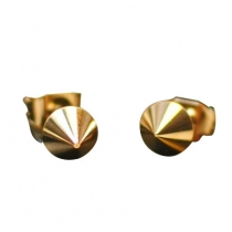 Punk Style Cool Retro Golden Rivet Studs Earrings