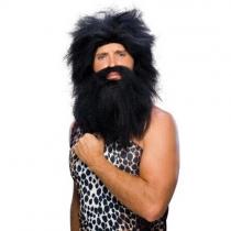 Characters Caveman Beard And Set Wig