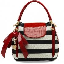 Fashion Bowknot Lovely Zebras Stripe Woman Handbag