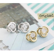 Stardust Diamond Wire Wrapped Stud Earrings