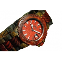 Red mahogany wooden watch