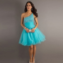 Sexy Sweet Strapless Dress With Beading