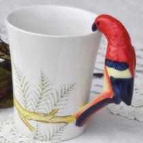 Parrot Handmade Coffee Mug