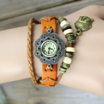 New Retro Vintage Creative Leather Bracelet Watch