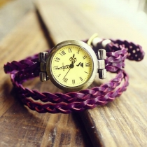 Retro Vintage Woven Bracelet Watch