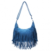 Cute Punk Style Blue Fringed  Shoulder Crossbody Bag