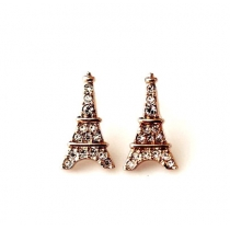 Unique European Style Rhinestone Eiffel Tower Earrings
