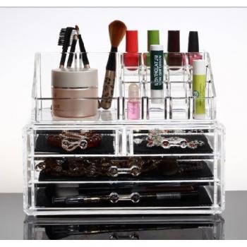 Makeup Organizer Luxury Cosmetics Acrylic Clear Case Storage